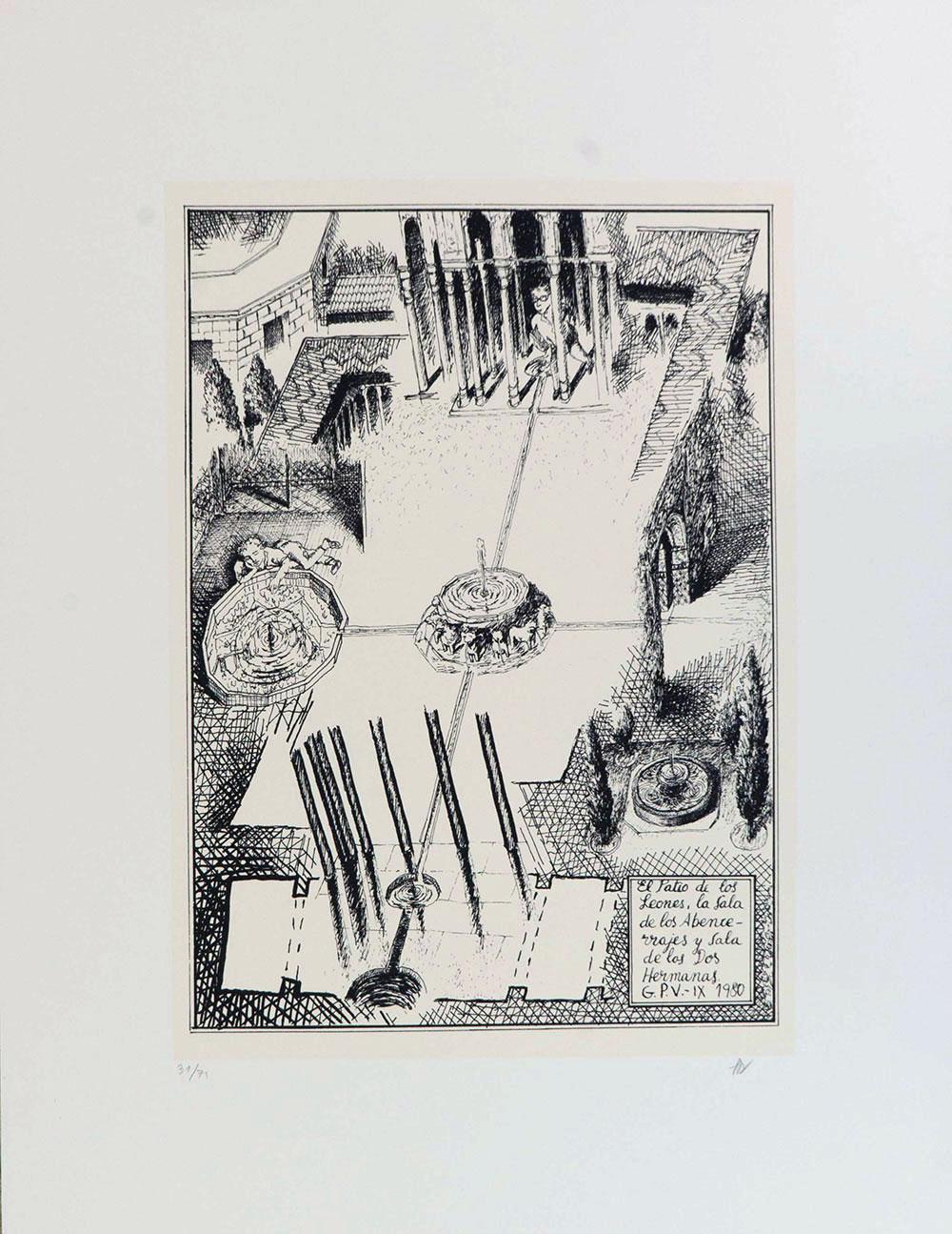 El Patio de los Leones, La Sala de los Abencerrajes y Sala de las Dos Hermanas, 1997