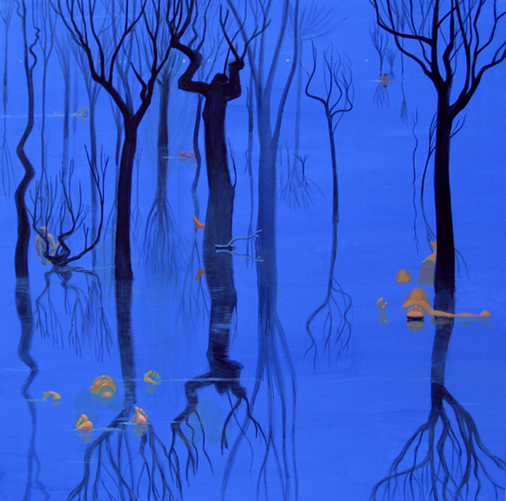 Nocturno. 2010 Acrílico/ lienzo 195 x 195 cm