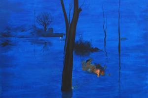 Inundados. 2010-‐2012 Acrílico/ lienzo 195 x 195 cm