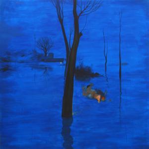 Inundados. 2010-°©‐2012 Acrílico/ lienzo 195 x 195 cm
