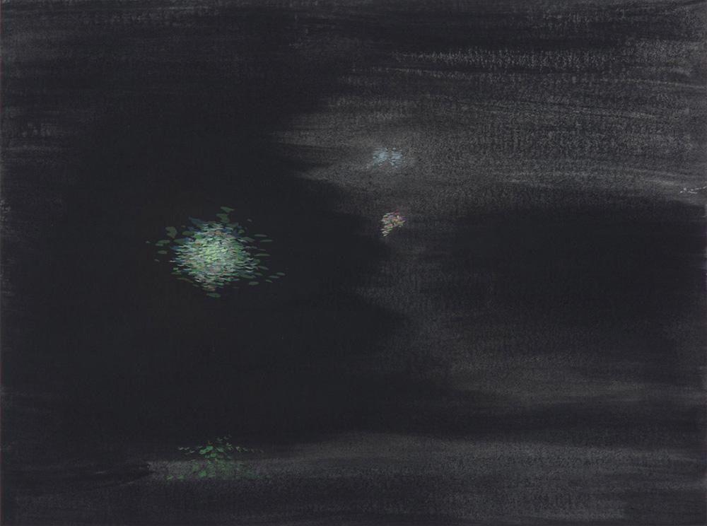 Iluminaciones 3-2019 Gouache/ papel 30 x 40 cm.