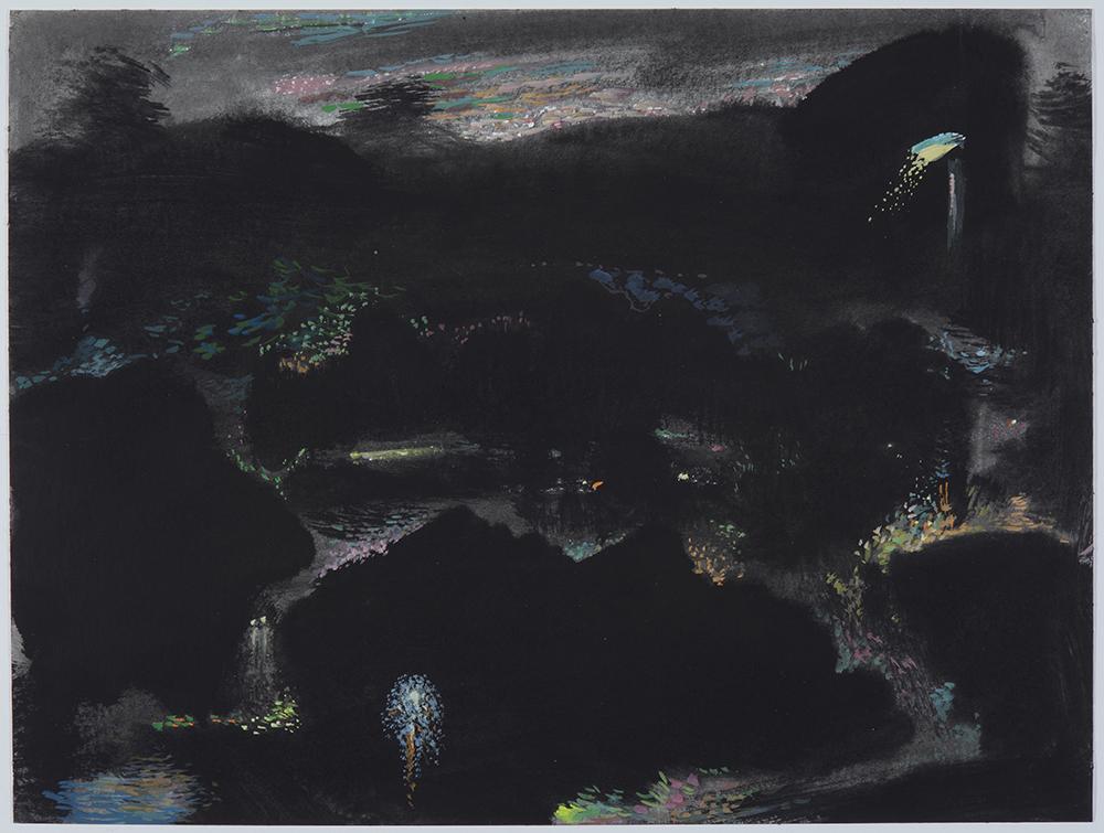 Iluminaciones 5-2019 Gouache/ papel 30 x 40 cm.