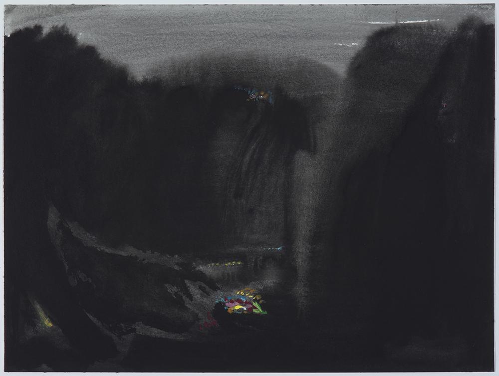 Schwarzwald. 2019 Gouache/ papel 30 x 40 cm.