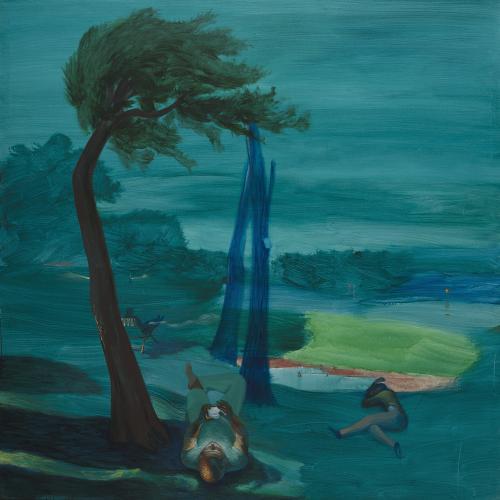 A orillas del Lago Leman. 2018 Acrílico/lienzo 195 x195 cm