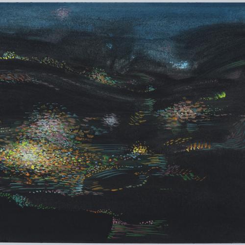 Iluminaciones 6-2019 Gouache/ papel 30 x 40 cm.