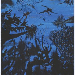 ¿Procede de lo mismo? 2015 Gouache/ papel 65 x50 cm.