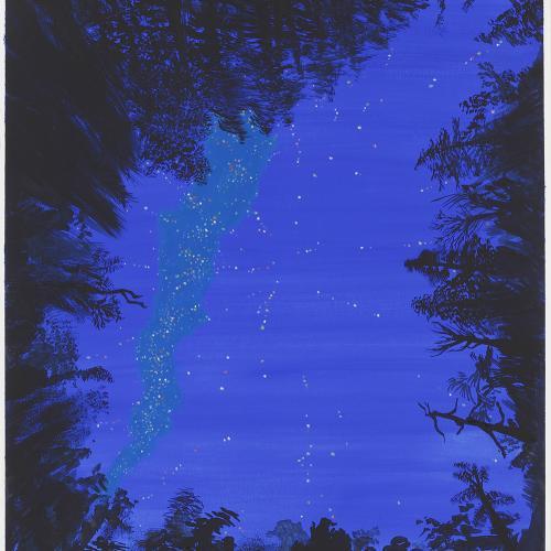 Todo tiene un sentido. 2016 Gouache/ papel 65 x50 cm.