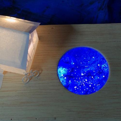 Daisy Bell. Homenaje a Duchamp. 2019 Detalle de la parte central de la caja.