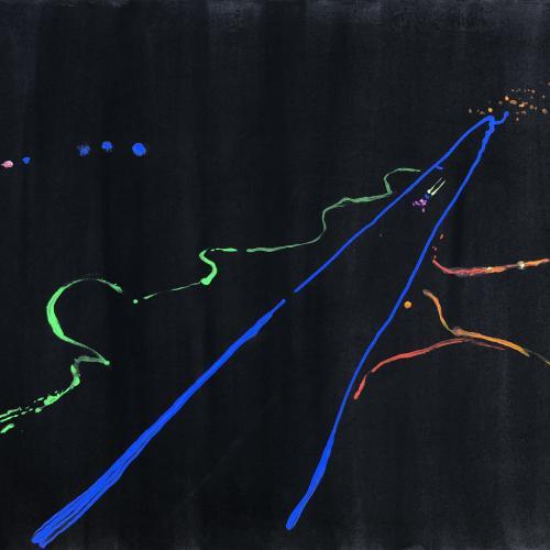 Cartografía nocturna 9. 2020 Acrílico/ papel.  55 x 70 cm.