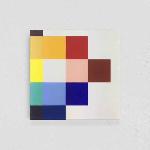 Beatriz Castela Spectrum III Técnica: Acrílico sobre lienzo Medidas: 50 x 50 x 4 cm 2019