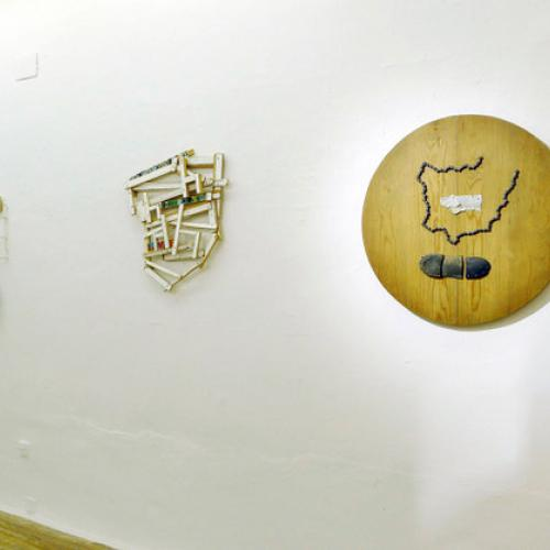 Vista de la exposición en la Galeria Fúcares, 2018.
