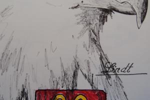 42cm x 30cm - rotulador sobre papel - AMERICAN CRISPY EAGLE - 2015