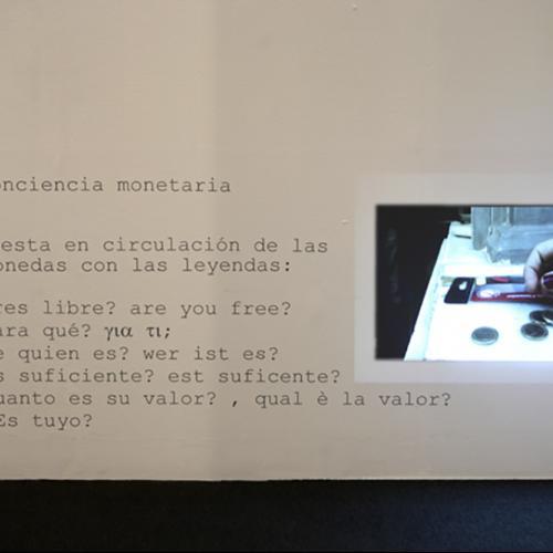 """Cociencia monetaria, 2015 vídeo proyección 10 """""""