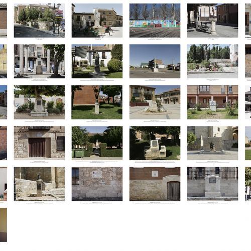 """Archivo Territorio. Proyecto """"Museum. (Un gran museo al aire libre). Homenajes"""", 188,2x702 cms. (86 fotografías de 29,7x42 cms.) 2016-2020."""