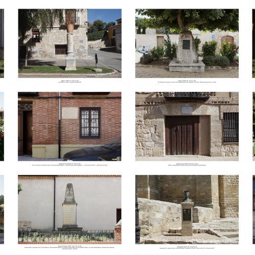 """Archivo Territorio. Proyecto """"Museum. (Un gran museo al aire libre). Homenajes"""", 188,2x702 cms. (86 fotografías de 29,7x42 cms.) 2016-2020. (Detalle)."""