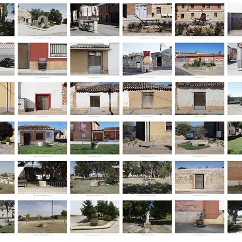 """Archivo Territorio. Proyecto """"Museum. (Un gran museo al aire libre). Etnografía"""", 188,2x1054 cms. (141 fotografías de 29,7x42 cms.) 2016-2020."""