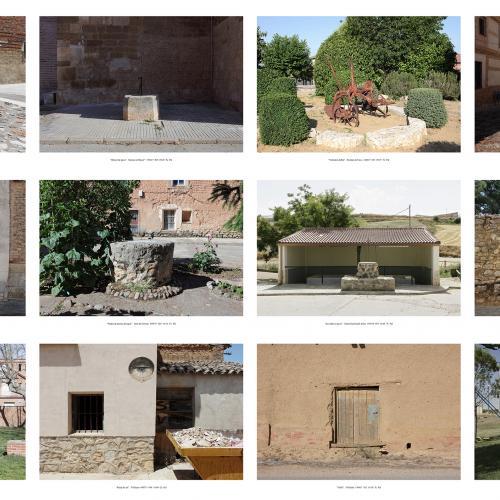 """Archivo Territorio. Proyecto """"Museum. (Un gran museo al aire libre). Etnografía"""", 188,2x1054 cms. (141 fotografías de 29,7x42 cms.) 2016-2020. (Detalle)."""