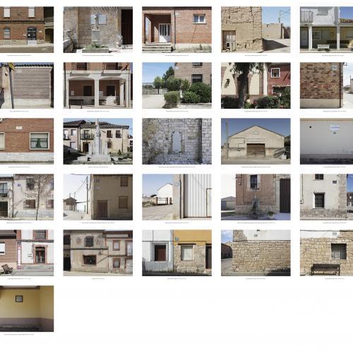 """Archivo Territorio. Proyecto """"Museum. (Un gran museo al aire libre). Franqismo"""", 188,2x394 cms. (48 fotografías  fotografías de 29,7x42 cms.) 2016-2020."""