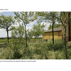 """proyecto """"La Estrategia del Avestruz"""" (2007-12); S/T (42.08.43 N – 4.50.12 O); 90x120 cms (mancha: 72x92 cms) ; 2008."""