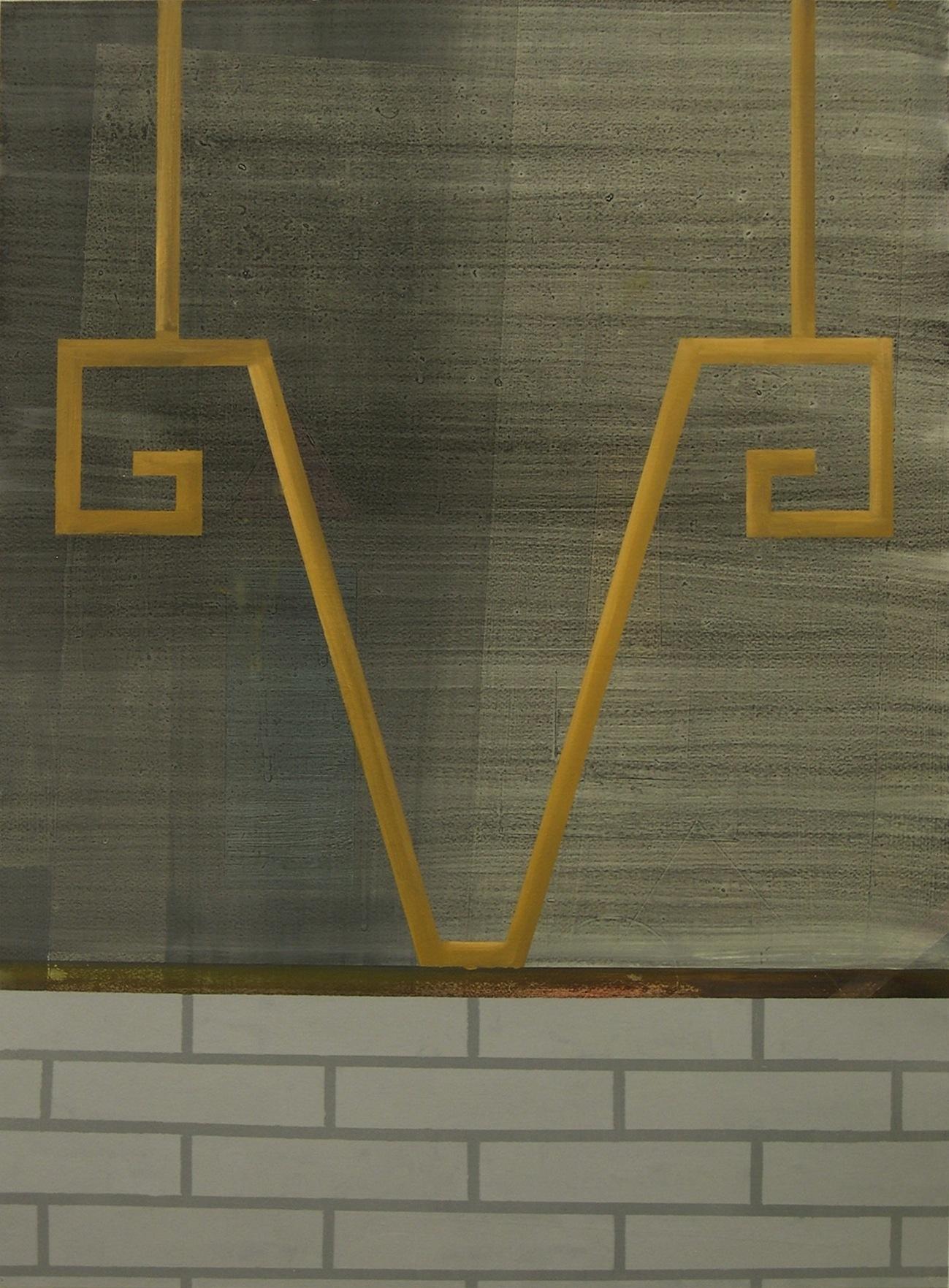Calvario, 2014. Óleo sobre cartón. 100 x 70 cm.