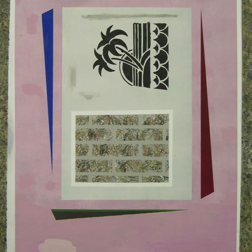 Cartel, 2014. Óleo sobre cartón. 100 x 70 cm.