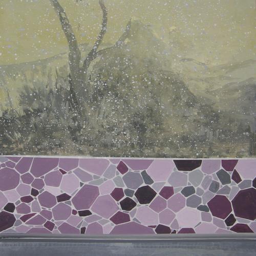 El muro rosa, 2013 Óleo sobre Cartón 76 x56 cm.