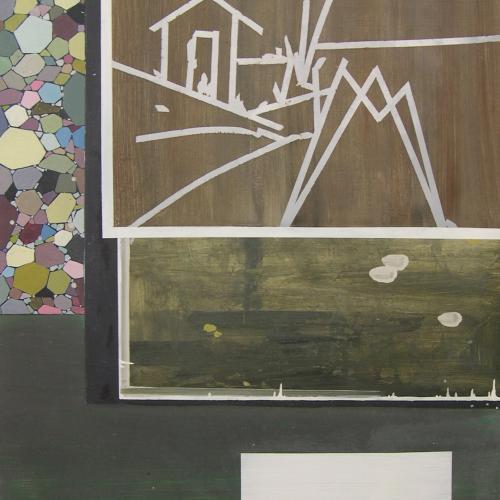 Escena Campestre, 2014. Óleo sobre cartón. 100 x 70 cm.