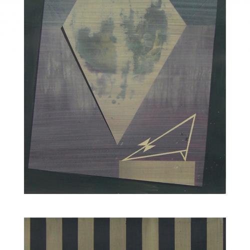 La Fiesta, 2014 Óleo sobre papel (díptico) 76 x 56 y 32 x 56 cm.