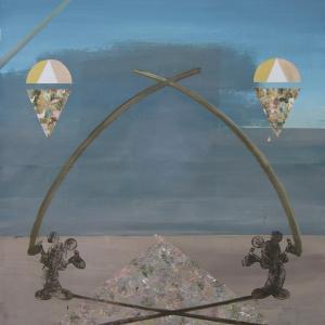 La Invitación, 2015 Óleo sobre cartón 140 x 100 cm.