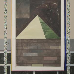 La Sombra Verde, 2015 Óleo sobre cartón 140 x 100 cm.