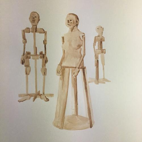 2018  Dibujo  Gouache sobre papel  100 x 70 cm
