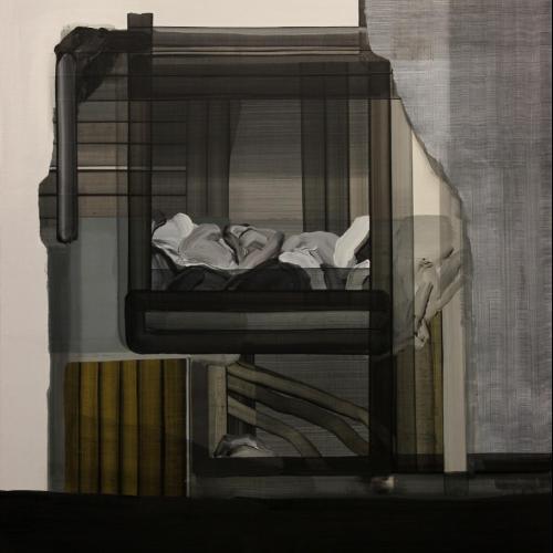 Jorge Julve. S/T, 2016. Acrílico sobre tela. 120x107 cm.