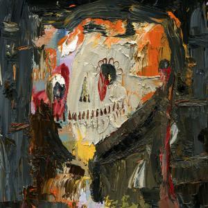 El muerto feliz, Oil on wood 21 x 29 cm 2013