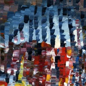 Prometeo, Oil on wood 21 x 29 cm 2014