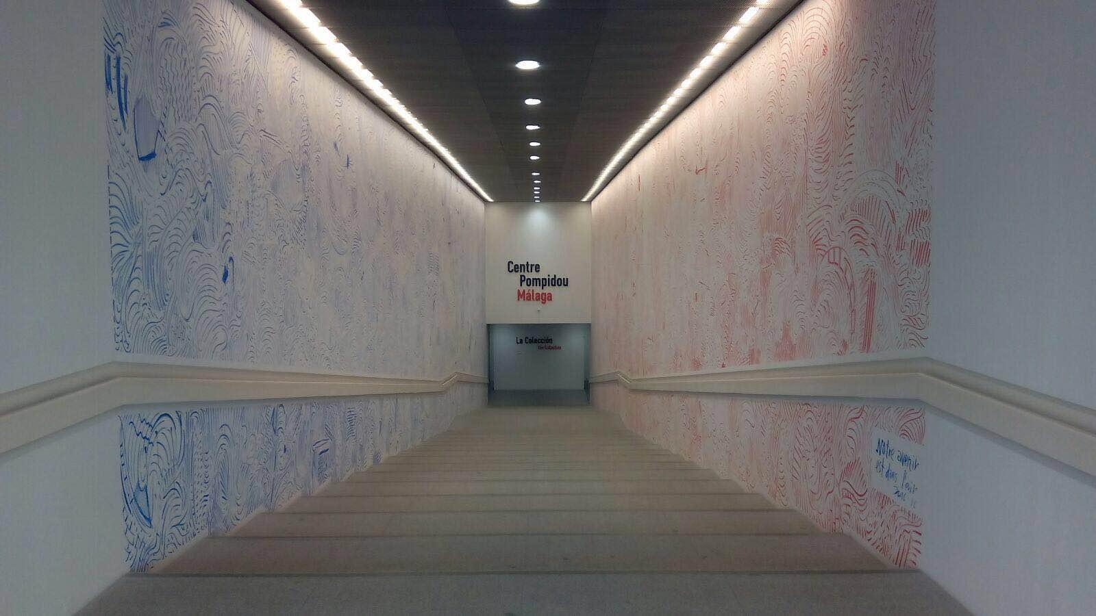 Instalación en el Centro Pompidou de Málaga 2016