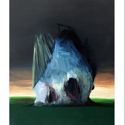 Sin  título  2017  Óleo  sobre  tela  55  x  46  cm.