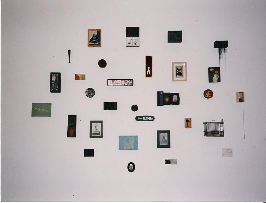 Mapas de la memoria. 1999. Mixed media. 200 x 300 cms aprox. Work in progress.