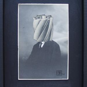 El pensador. 1997. Collage/foto antigua.