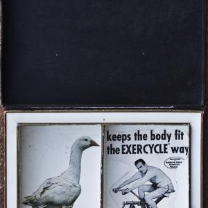 The exercycle way. 1996. Colage/caja de cartón.