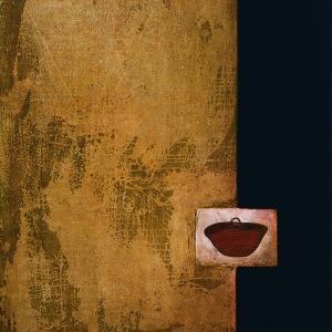 Pozos como labios. 1991. Acrílico y grafito/lienzo. 100 x 81 cms.