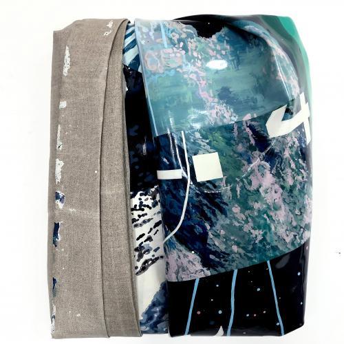 """""""Redo_002"""". Láminas de pintura acrílica, lienzo y bastidor 31 x 27 cm. 2020"""