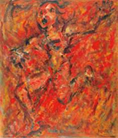 El Fuego 146 x 114 Óleo Tela 1986