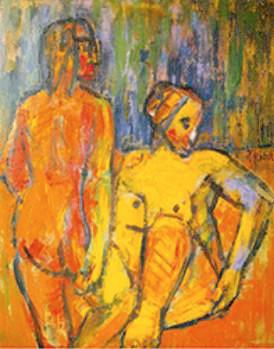 Naranja Limón 146 x 114 Óleo tela 1986