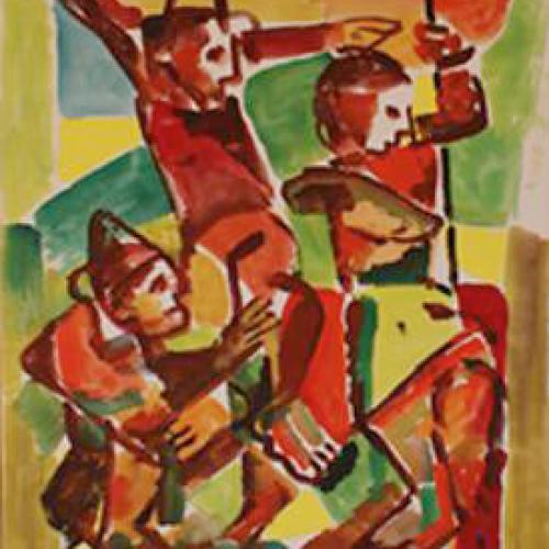 Cristo 50 x 70 Gouache Cartón 1976