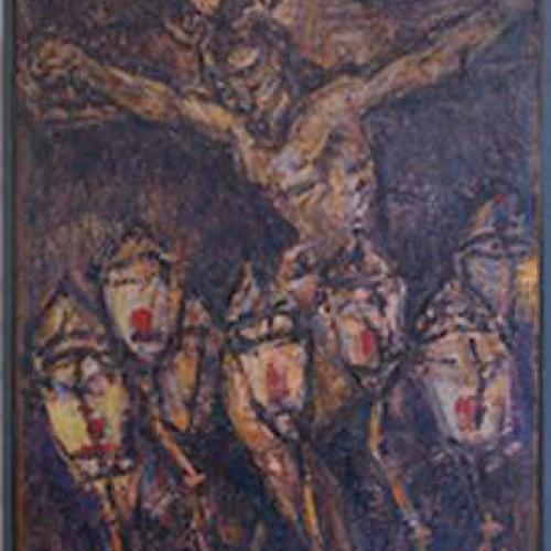 Cristo de Los Faroles 146 x 114 Óleo Tela 1990