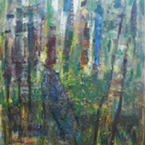 Floresta 146 x 114 Óleo Tela 1989
