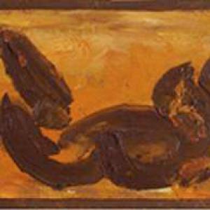 Negrita 58 x 18,5 Óleo Cartón 1965