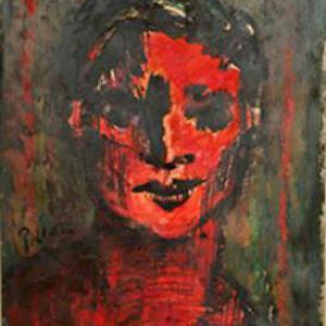 Niño Rojo 60 x 40 Óleo Cartón 1975