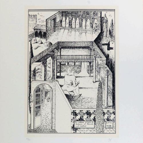 La entrada el Patio de Machucay el Mexuar y el Oratorio¨